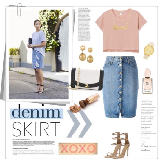 Denim Skirt by bogira