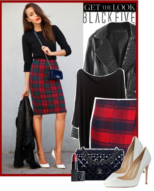 Plaid pencil skirt - Blackfive by anne-mclayne