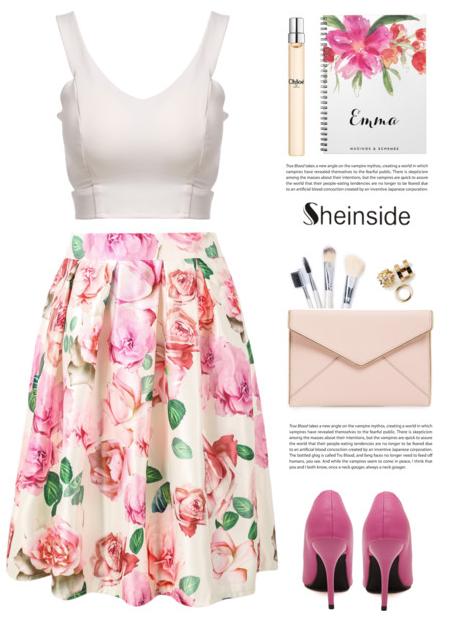 Print Midi Skirt by yexyka